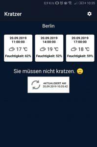 Frostwarnung Ingame Screenshot